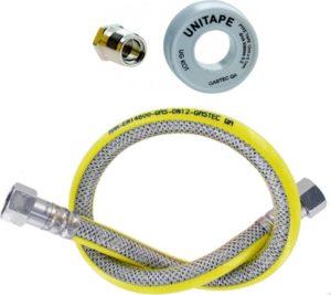 Rvs flexibele Gasslangset Compleet (100cm)